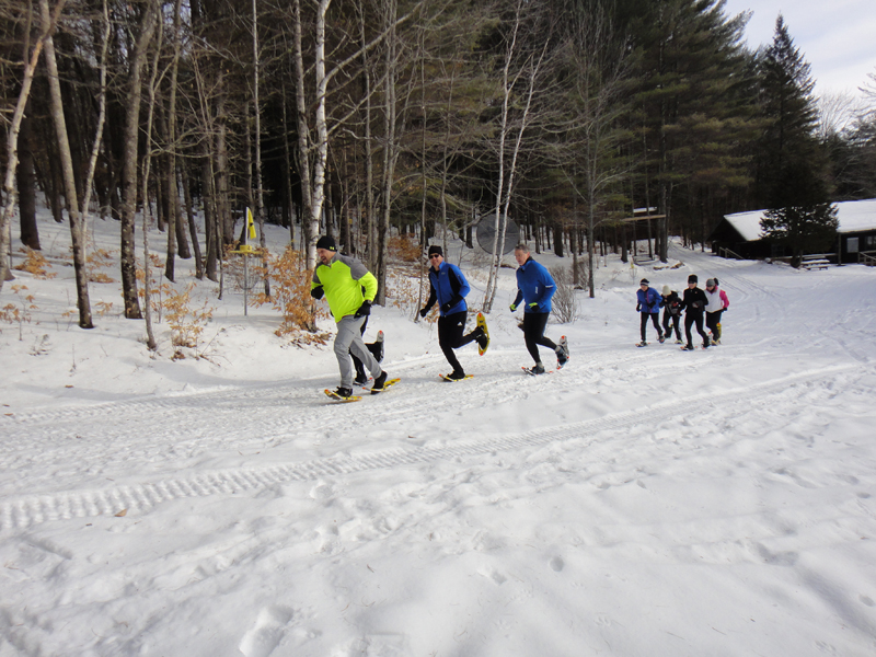 Snowshoe runners checking out our trails