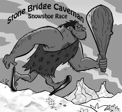 Stone Bridge Caveman 6K Snowshoe Race Logo