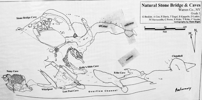 Preliminary Survey Map of Natural Stone Bridge and Caves
