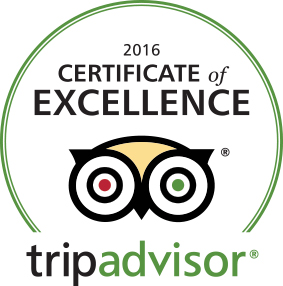 Trip Advisor Cert of Excellence 2016