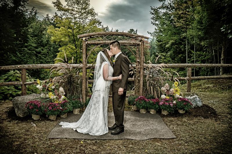 Stone bridge wedding